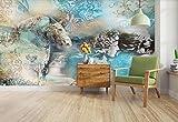 Papel Pintado 3D Escultura De Caballo Retro Papel Pintado Pared Moderno Dormitorio Fotomurales Decorativos Pared 250cmX175cm