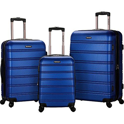 Rockland Luggage Melbourne 3 Piece Set, Blue