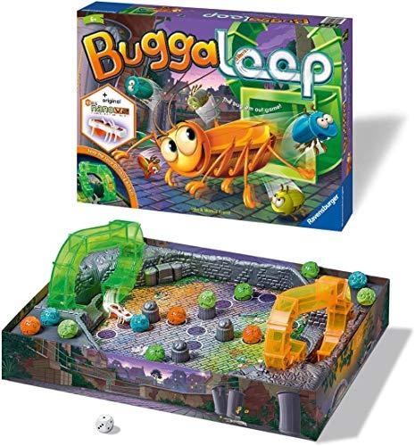 Ravensburger 21337 Buggaloop Juego para niños de 6 años y Carrera en la Tabla evitando el Hexbug Nano