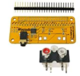 Audio DAC HAT Sound Card (Audio+) for Raspberry Pi Zero/A+ / B+ / Pi 3 : Pi 4 / Better Quality Than USB