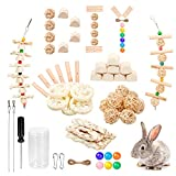 Roundler DIY Rabbit Hamster Chew Toys, Pet Snacks Molar Toys, Make a Unique Chew Toy for Small Animals, Suitable for Rabbits, Chinchillas, Guinea Pigs, Hamsters, Chewing/Playing (Style-3)