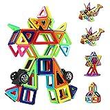 CASAMAA Bloc de Construction Magnétique Enfant 108 Pièces, Mini Jeux Construction Aimanté Jouet Educatif et Créatif, Cadeau Anniversaire Fête pour Les Petits