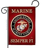 Breeze Decor US Marine Corps Garden Flag USMC Semper Fi Armed Forces Official United State American Military Veteran Retire Decorative, 13