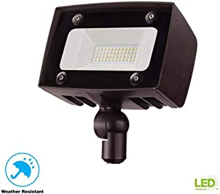 Commercial Electric Architectural Dark Bronze Outdoor Integrated LED Flood Light with 2000 Lumens and DLC-Rating