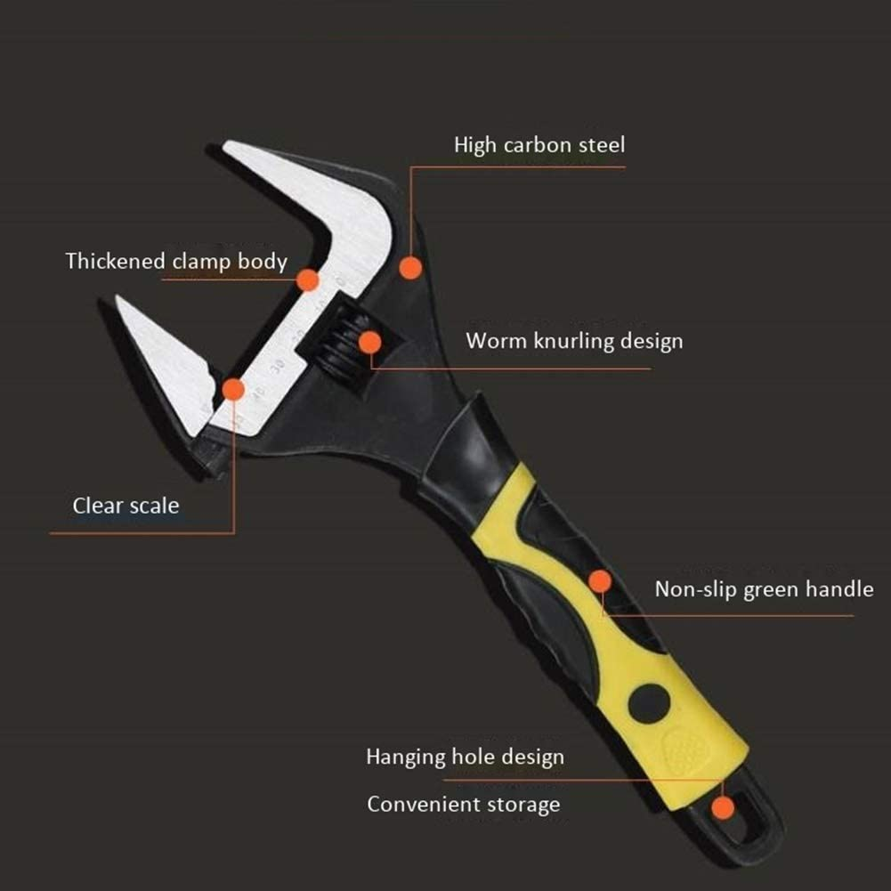 AGFXN Size : C Bar Stools 6//8//10//12 Inch Adjustable Wrench Spanner Nut Key Large Open End Wrench Hand Tools