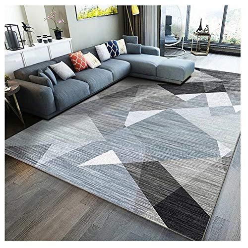 GUOCU Patchwork Teppich Bordüre Kurzflor Meliert Teppich Wohnzimmer Modern Kurzflor Teppich Mit Konturenschnitt Karo Moderner Geometrische Muster Trend Teppich,Bunt12,160x200