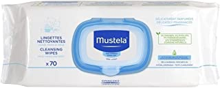 MUSTELA CLEANSING WIPES X70 FOR FACE HAND AND DIAPER AREAS