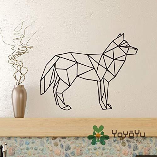 yaonuli muurstickers, afneembaar, wolf, geometrisch, diermotief, wolf, muurstickers, decoratie voor huis, kinderen, kleuterschool, slaapkamer, decoratie