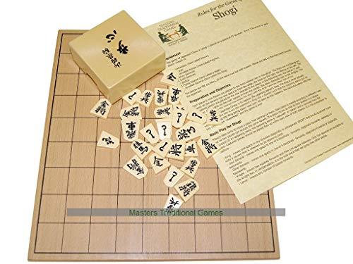Masters Traditional Games Tablero de Madera de Shogi con Piezas de Plstico