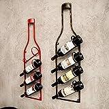ARTS Bottle Wine Rack Fully Assembled - Light Wood Mango Steam 4 Bottle Wine Rack with Glass Table Top (Color : Black,red) (Black)