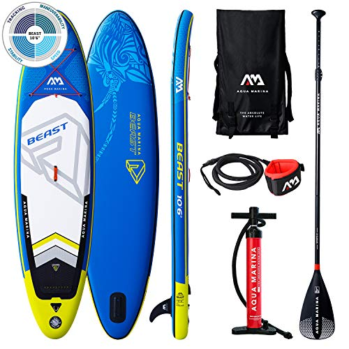 AQUA-MARINA Stand up Paddle Gonflable Sup Beast 2019 Pack Complet 320x81x15cm