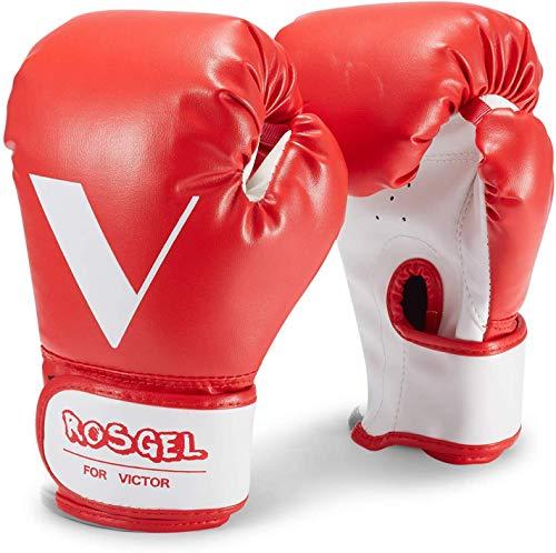 rosgel Kinder Boxhandschuhe Junior Boxhandschuhe Jugend Boxen Kickboxen Muay Thai Handschuhe MMA Handschuhe für Kinder 3–7 Jahre