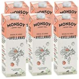 Monsoy - Bebida De Arroz Avellanas BIO - Caja de 6 x 1L