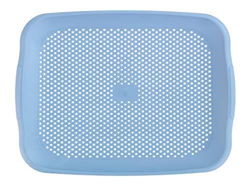 WENKO Sil Shari diskho – droppsil och skärbräda för diskbänken, polypropylen, 36,5 x 3 x 27 cm, blå