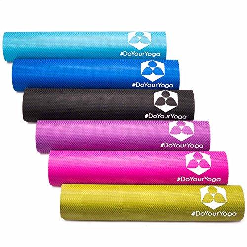Yogamatte aus natürlichen Gummi (Kautschuk) - »Rubin« 183x61x0,4cm - sehr rutschfeste Matte für Yoga : ideal für Yogalehrer & Yogastudios (Studio-Qualität) pink