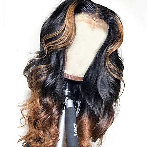LEZDPP 13 6 False Scalp Brazil Exudes Deep Lace Positive Human Hair Wig Hairpieces (Size : 14 inches)