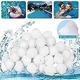 WANPENG Bolas de filtro 700g piscina, bolas de filtro para sistemas de filtro de arena piscina bomba de filtro de arena acuario, accesorios de piscina (700g)