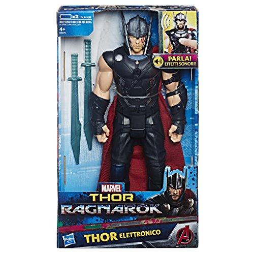 Thor: Ragnarok - Thor Titan Hero Elettronico (Personaggio 30cm, Action Figure), B9970103