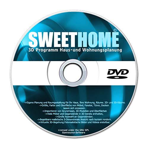 Sweet Home 3D Raumplanung - Premium Edition für Haus und Wohnungsplaner -Für Windows 10 Windows 7, 8 ,XP und Vista -Deutsche Version-2021
