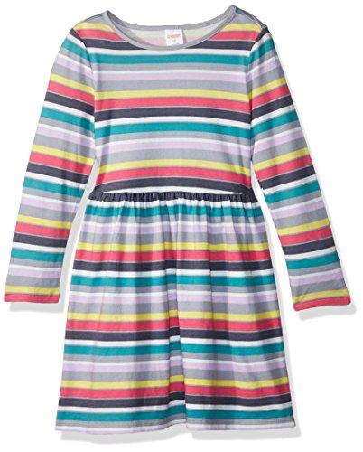 Gymboree Girls' Toddler Long Sleeve Winter Skater Dress, Navy Stripe, 2T