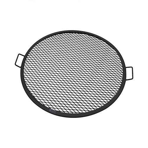 Sunnydaze X-Marks Fire Pit Cooking Grate - Outdoor Round Campfire BBQ Rack - Campfire Cooking Grill - Portable Outside Camping Cookware - Heavy-Duty Steel Construction - 30-Inch