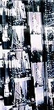 Geschenkestadl - Cortina de Ducha de Tela, Nueva York con Anillas de 1,80 m x 2,00 m