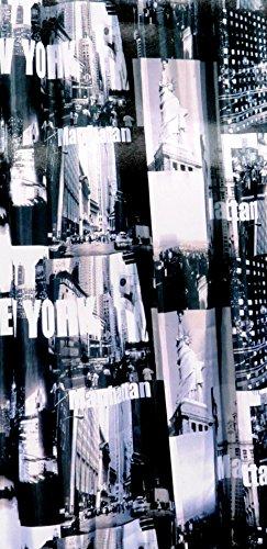 Duschvorhang Textil New York Manhattan inkl Ringe 1,80 m x 2,00 m USA Baduntensilien Bad Zubehör Badezimmer Dekoration