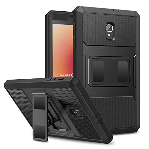MoKo Samsung Galaxy Tab A 8.0 2017 Case, [Heavy Duty] Full Body Rugged Cover with Built-in Screen Protector for Galaxy Tab A 8.0 (SM-T380/T385) 2017 Release(NOT FIT 2015 Tab A 8.0 SM-T350/P350), BLACK