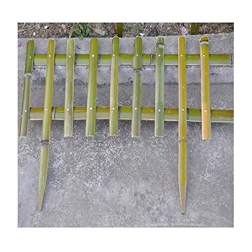 GZHENH-Palissade Bois barrière Clôture en Bambou De Plein Air Brancher Couper Protection De La Plante Imperméable Protection Environnementale, 2 Styles (Color : Green, Size : 60x50cm)
