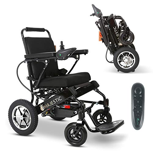 2020 Model Fold & Travel Lightweight Electric Wheelchair Motor Motorized Wheelchairs Electric Silla De Ruedas Power Wheelchair Power Scooter Aviation Travel Safe Heavy Duty Mobility Aids (Black) Electric Wheelchairs