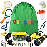 UTTORA Outdoor Explorer Kit Gifts Toys,Kids Binoculars Set,Outdoor Exploration Set,Best for 8+ Year Old Boy and Girl,Kids Adventure Kit,Children Outdoor Educational Kit(22 PCS)