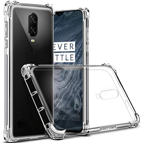 OnePlus 6T case, Sucnakp TPU Shock Absorption Technology Raised Bezels Protective Case Cover for OnePlus 6T Smartphone (TPU Clear)