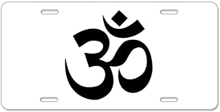 CafePress Yoga Om Aluminum License Plate, Front License Plate, Vanity Tag