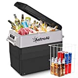 AstroAI Portable Freezer 12 Volt Refrigerator 58 Quart Car Fridge for RV, Van, Boat, 55 Liter Portable Refrigerator for Car, Travel, Fishing Outdoor, Home Use — 12/24V DC and 100/240V AC, -4℉~68℉