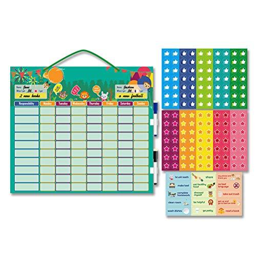 Cricia Tabla de autodisciplina de Crecimiento para niños, recompensa magnética, Tabla de tareas para el Comportamiento, Tabla educativa, Juguete para niños