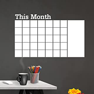 Goodern This Month Blackboard Wall Stickers,DIY Whiteboard Plan sticker,Blackboard Month Planner Wallpaper Office Meeting ...