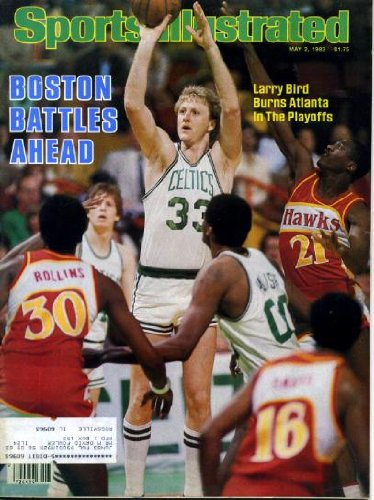 Sports Illustrated May 2 1983 Larry Bird/Boston Celtics on Cover, Slew O'Gold Wins New York's Wood Memorial, Bob Bourne/New York Islanders, Kentucky Derby Sketchbook, Edwin Rosario/Boxing, Joan Benoit/Boston Marathon