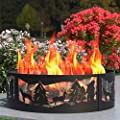 Regal Flame Heavy Duty 38 Inch Backyard Garden Light Wood Fire Pit Fire Ring. for RV, Camping, and Outdoor Fireplace. Similar Firewood Patio Heater, Stove or Firebowl Without Propane