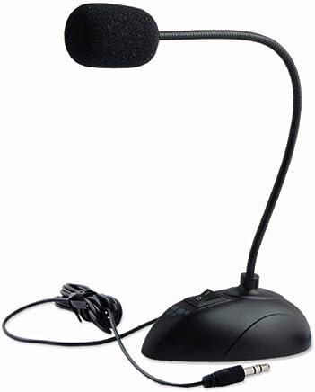 NanYin Supporto Flessibile Mini Microfono da Studio Microfono da 3,5 Mm Microfono A Collo D'Oca Microfono Cablato Computer PC Desktop Laptop (Color : Black) - Trova i prezzi più bassi
