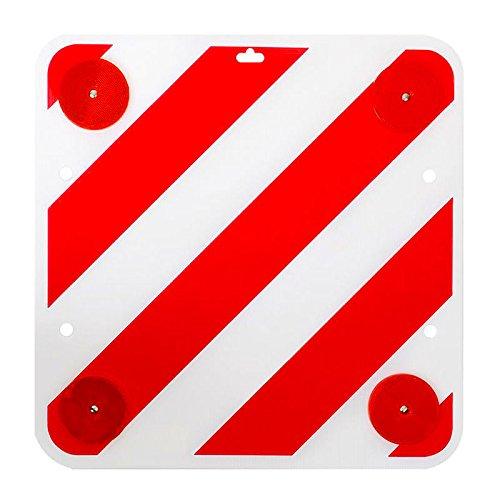 ProPlus Warntafel mit Reflektoren 50x50 Rot Weiß Warnschild inkl. Rückstrahler für Wohnmobild oder Wohnwagen