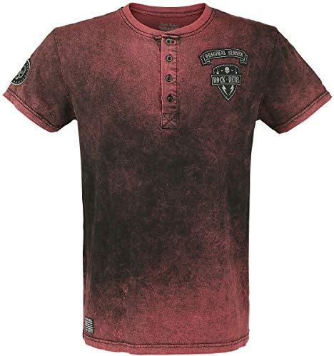 Rock Rebel by EMP Back for More Homme T-Shirt Manches Courtes Rouge 3XL