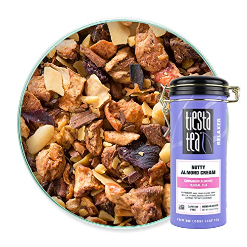 Tiesta Tea | Nutty Almond Cream, Loose Leaf Apple Cinnamon Herbal Tea | All Natural, Caffeine Free, Herbal Dessert Tea | Spiced Almonds, Apple and Cinnamon | 6.2oz Tea Tin Canister - 50 Cups