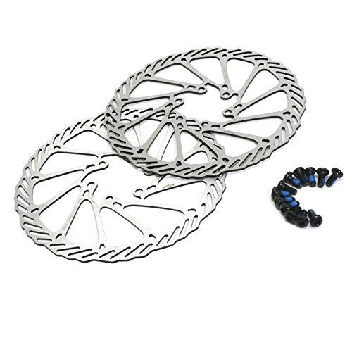GoldenTrading 160mm bicicleta freno de disco Rotor 2 piezas + 12 acero...