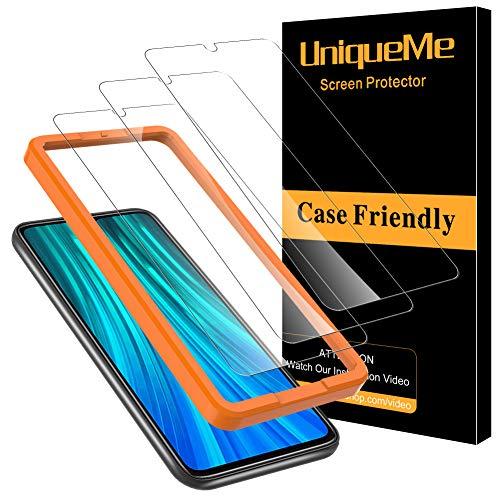 UniqueMe [3Pack] Schutzfolie für Xiaommi Redmi Note 8 Panzerglas, Displayschutz für Xiaommi Redmi Note 8, HD klar Folie gehärtetes Glas