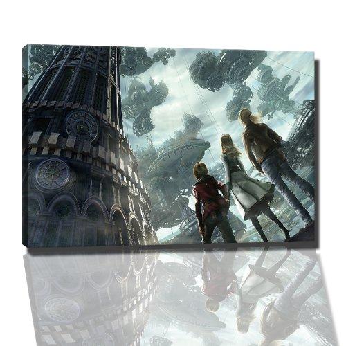 resonance of fate game afbeelding op canvas - 120x80 cm kant-en-klare kunstdruk afbeeldingen als wandafbeelding - Goedkoper dan een olieverfschilderij of schilderij - GEEN poster of affiche