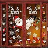 Natale Adesivi Display Rimovibile Natale Addobbi Murali Fai da te Finestra Decorazione Vet...