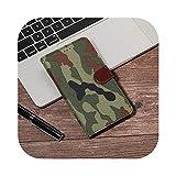 Étui en cuir avec rabat de camouflage pour BQ Aquaris A4.5 M5 M5.5 E4 E5 E6 V U U2 X2Pro Lite X5...