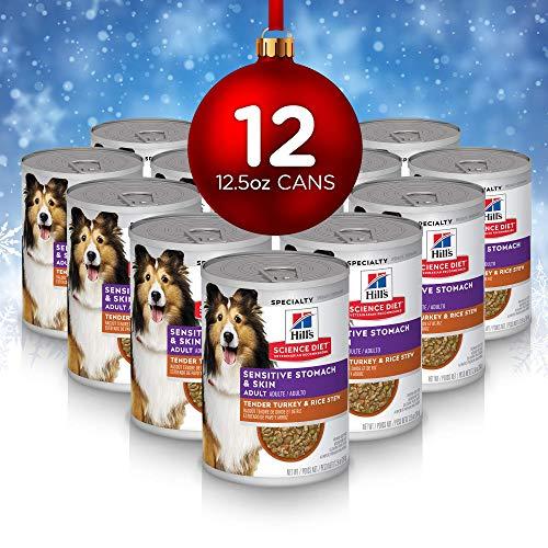 Hill's Science Diet Wet Dog Food, Adult, Sensitive Stomach & Skin, Tender Turkey