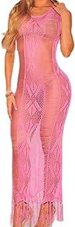 RkBaoye Women Tassel Classic Long Dress Hollow Out Bikini Swimsuit Cover up