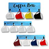 Coffee Mug Holder,Wall Mounted Coffee Mug Rack,Rustic Wood Cup Organizer with 12 Hooks for Kitchen Display Storage and Collection